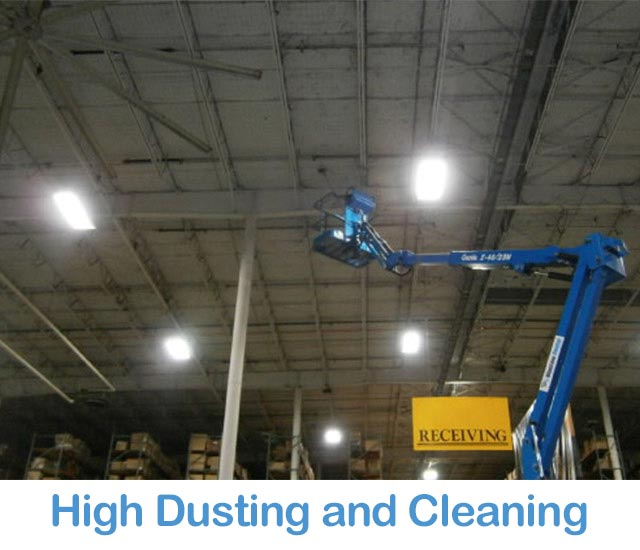 High Ceiling Dusting and Cleaning